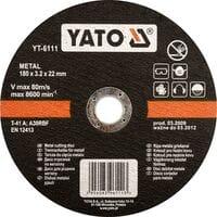Диск відрізний по металу ?= 115 х 22 мм, h= 3.2 мм [5/25/200] DW(DW), YT-5922 YATO