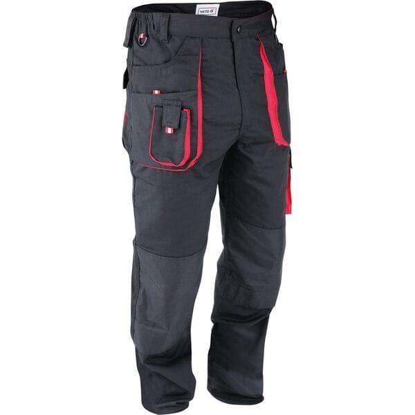 Штани рабочие черно-красные, разм. XL, YT-8028 YATO