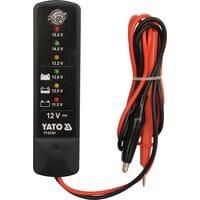Тестер напруги акумуляторив до 12 В, YT-83101 YATO
