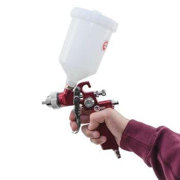 HVLP RED PROF Краскопульт 1.4мм, в.пласт.бачок 600мл. (PT-0104 Intertool)