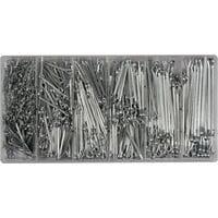 Шплінти прямі різних розмірів набір 1000 шт., YT-06885 YATO