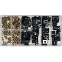 Гвинти самонарізні і металеві кліпси, наб. 170 шт., YT-06780 YATO