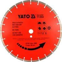Диск відрізний алмазний по бетону. 350х3,2x10x25,4мм [5], YT-5954 YATO