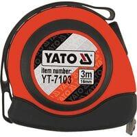 Рулетка 16мм х 3м с магнитом, YT-7103 YATO
