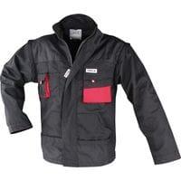 Куртка рабочая черно-красная, разм. S, YT-8020 YATO