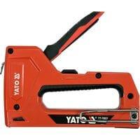 Степлер металевий до скоб і цвяхів, скоби, 6-14х 11,3х 1,2 мм, цвяхи, 15х 1,2 мм, YT-70021 YATO