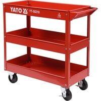 Візок майстерний 3-рівневий на 4 колесах для макс. навантаж.- 130 кг, YT-55210 YATO