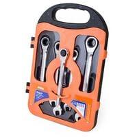 Набор ключей комбинированных с трещоткой в кейсе 5 ед. MIOL 52-250