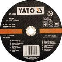 Диск відрізний по металу ?= 230 х 22 мм, h= 2.0 мм [5/25/50], YT-5927 YATO