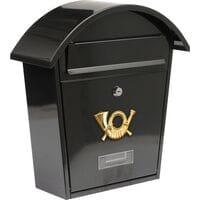 Ящик поштовий чорний, 380х320х105 мм (78585 Vorel)