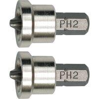 Насадки викрутнові (біта) для гіпсокартону PH2, 6,3x25мм набір 2 шт. (65800 Vorel)