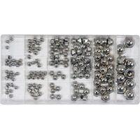 Гайки М3- М10 замкнуті півсферичні в пластиковій коробці, наб. 150 шт., YT-06775 YATO