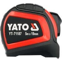 Рулетка зи стальною стричкою с нейлон. покриттям, b= 19 мм, l= 5 м, YT-71187 YATO