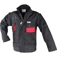 Куртка рабочая черно-красная, разм. XL, YT-8023 YATO