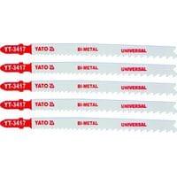 Полотно для електролобзика(метал) 10-5TPI, l=130мм, набір 5пр. [25/250], YT-3417 YATO
