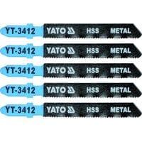 Полотно для електролобзика(метал) 21TPI, l=75мм, набір 5шт. [25/250], YT-3412 YATO