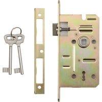 Замок врізний під ключ до дверей, 60/50 мм(DW) (78491 Vorel)