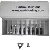 Негативные ножи к стенду для проточки 10 шт. MAD TG01002