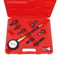 AmPro. Компрессометр для бензиновых двигателей с комплектом переходников (T75541)