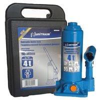 Домкрат бутылочный гидравлический 4T (в пласт. кейсе) (UN90404S Unitraum)