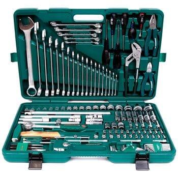 """Универсальный набор инструментов 1/4""""-1/2""""DR 128 ед., JONNESWAY S04H624128S"""