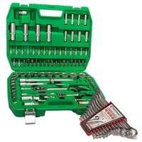 """Набор инструментов 1/2"""" & 1/4"""" 94 ед. и набор ключей 12 ед. INTERTOOL ET-6094SP-HT-1203"""