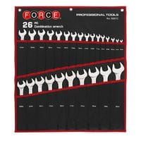 Набор ключей рожково-накидных на полотне 26 пр. 6-32 мм (5261C Force)