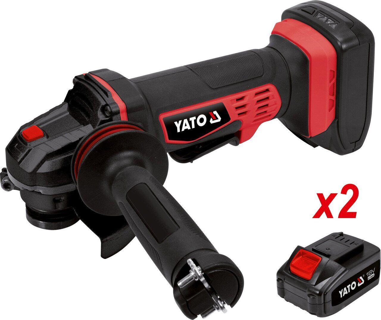 Шлифмашина угловая аккумуляторная 125 мм круг 2-аккума YT-82828 YATO